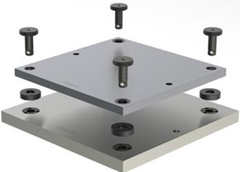 Sistemas de montaje de cambio rápido Ball Lock, de Jergens.
