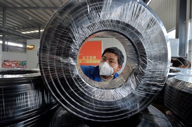 Manufactura de componentes automotrices en China.