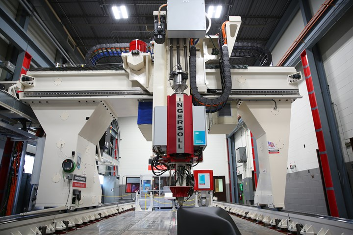 Una máquina de impresión 3D MasterPrint en el Centro de Desarrollo de Ingersoll Machine Tools.