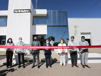 La Universidad Nissan inauguró un campus con sede en el estado de Aguascalientes, ubicado a un costado de Planta Nissan A2.