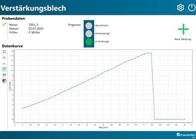 El software utiliza algoritmos de aprendizaje automático para analizar los datos de numerosos puntos de medición y evaluar la idoneidad de la chapa para el proceso de producción.