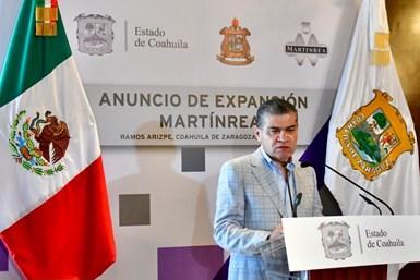 Martinrea International anuncia una inversión de 20 millones de dólares para expandir su planta en Ramos Arizpe.