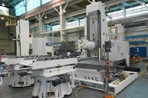 Fives presentó su nuevo centro de mecanizado horizontal Giddings & Lewis HMC 1250, con cabezal basculante de cinco ejes, de Liné Machines.