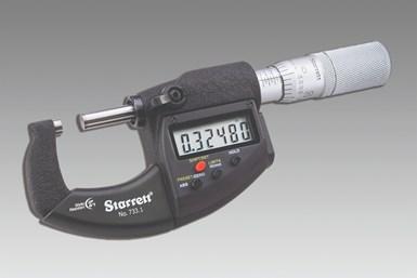 Micrómetros digitalesde Starrett.