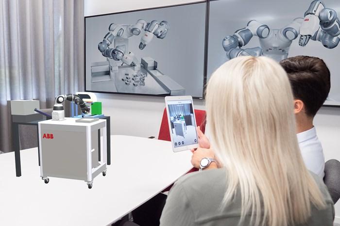 Visor de realidad aumentada (AR) RobotStudio, de ABB.