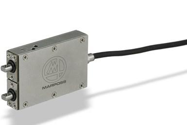 La galga de rectificado Minimicromar3, de Marposs, está diseñada para la medición de diámetros pequeños durante y después del proceso.