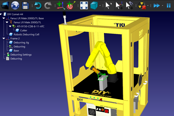 RoboDK, DIY-Robotics y ATI Industrial Automation lanzaron un paquete de aplicaciones combinadas dirigidas al desbarbado robótico