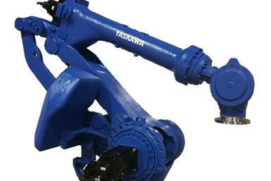 El robot GP280L de Yaskawa Motomanfunciona en aplicaciones como manipulación,corte, atención a la máquina y atención a la prensa.