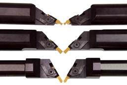 Thinbit ha diseñado los portaherramientas redondos en ángulo para utilizarlos con sus insertos en grados para materiales ferrosos y no ferrosos