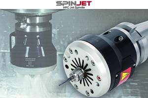 El SpinJet HPC deTungaloy utiliza presiones de refrigerante de hasta 7 MPa (70 bar, 1,015 psi).