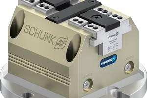 Elsistema de sujeción Tandem PGS3-LH 100 puede montarse directamente a través de la brida integrada en las mesas de las máquinas, en los cabezales divisores o en las estaciones de sujeción Schunk Vero-S NSL3 150 de los centros de mecanizado.