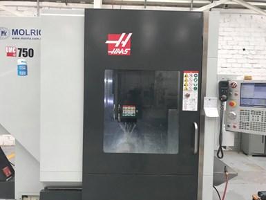 Con el hyperMILL, Molrio pudo usar los cinco ejes simultáneos del centro de mecanizado Haas UMC-750, que cuenta con una mesa basculante de doble eje integrada con una plataforma de 500 mm de diámetro.