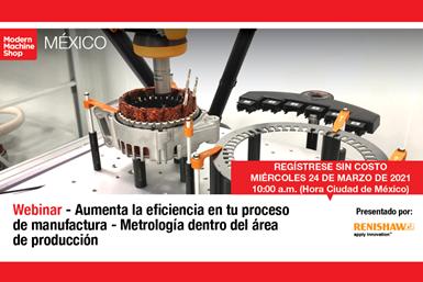 """El webinar """"Aumenta la eficiencia en tu proceso de manufactura - Metrología dentro del área de producción"""", presentado por Reinshaw, se realizará el 24 de marzo a las 10:00 a.m. (Hora Ciudad de México)."""
