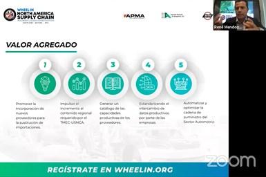 Wheel In es un sistema de integración de la oferta productiva de los proveedores con la demanda de compra automotriz en México, Canadá y Estados Unidos.