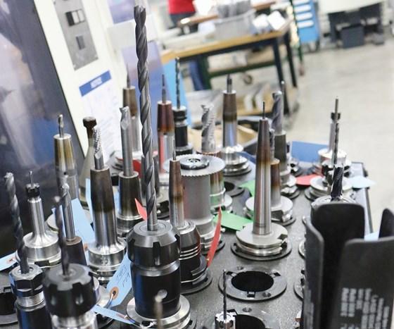 preset tools on a cart