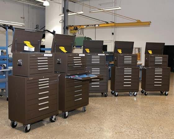 toolboxes on the shop floor