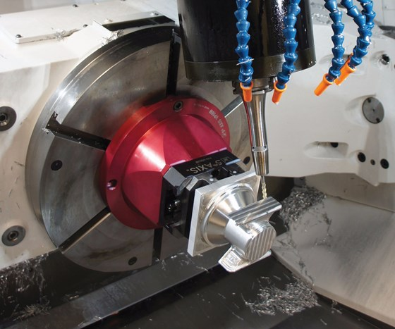five axis machine interior