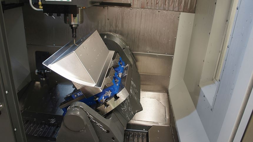 housing part in the five-axis machine