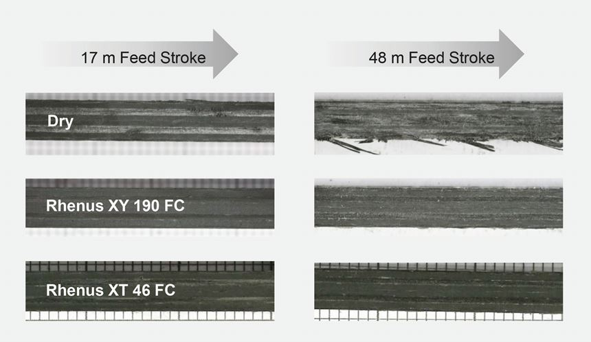 Figure 3: Surface quality when milling with and without coolant.