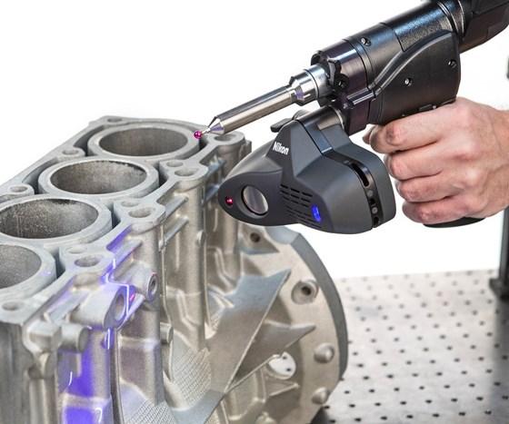 Nikon's ModelMaker H120 handheld laser scanner