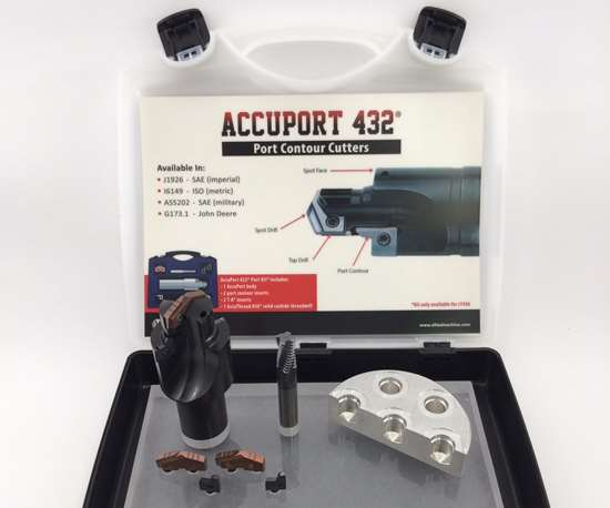 AccuPort 432 kit for manufacturing hydraulic ports and manifolds