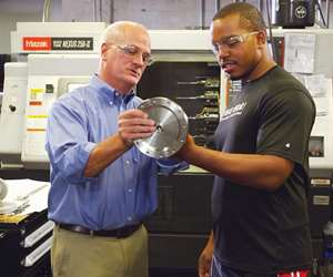 inspecting a part by a machine tool