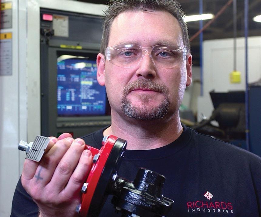 holding a valve part