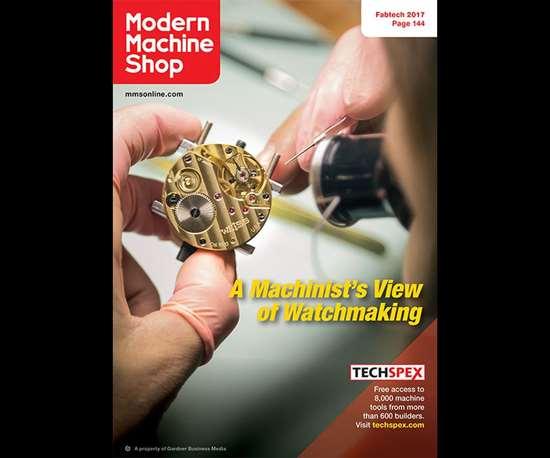 November 2017 Modern Machine Shop magazine cover