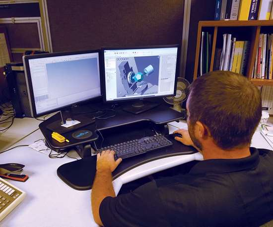 a man using NCSimul software