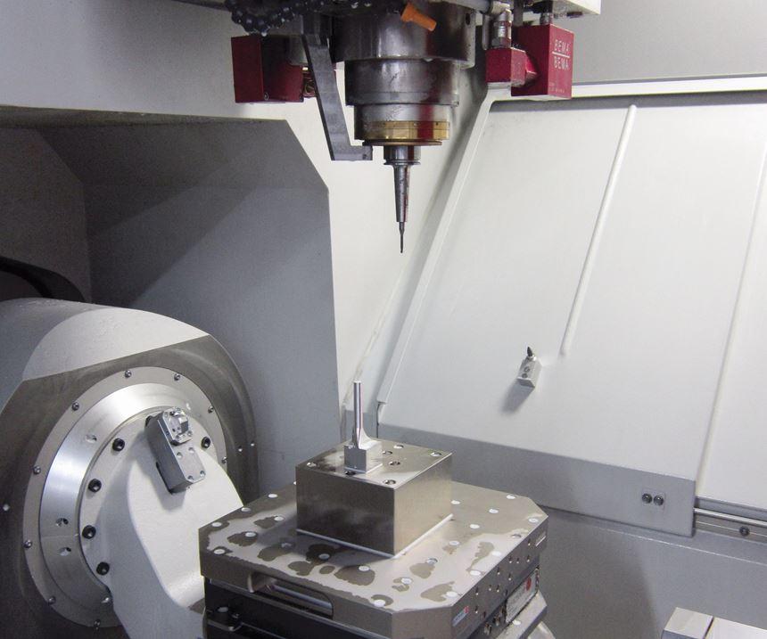 trunnion five-axis machine interior