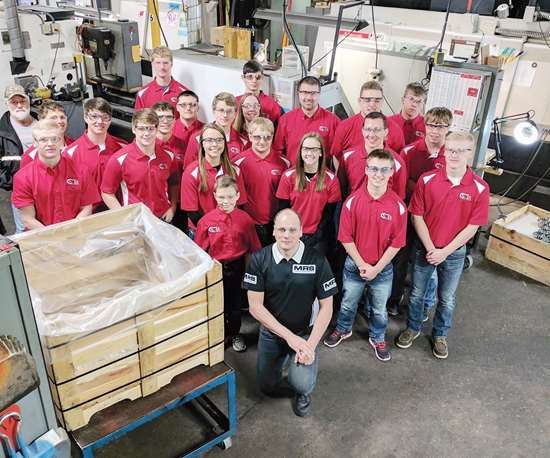 Cardinal Manufacturing workers touring MRS