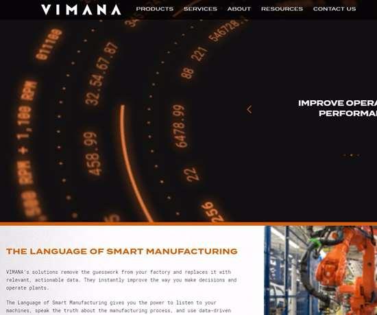 Vimana's rebranded website