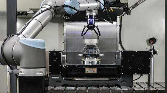 cobot loading a machine tool
