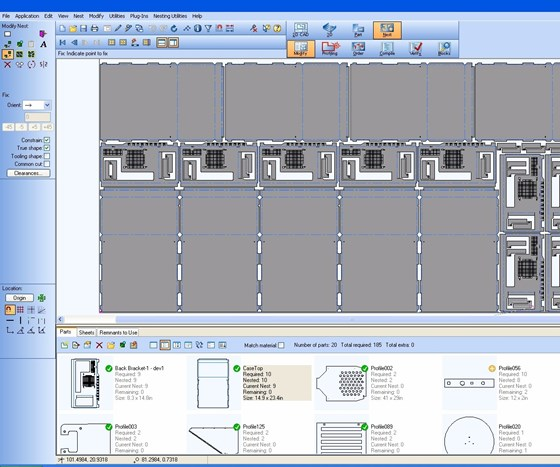 Screenshot of Visi CAD/CAM software