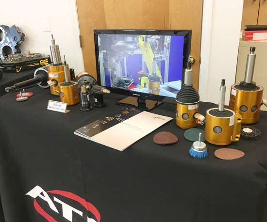 ATI's Flexdeburr line of Radially-Compliant (RC) deburring tools