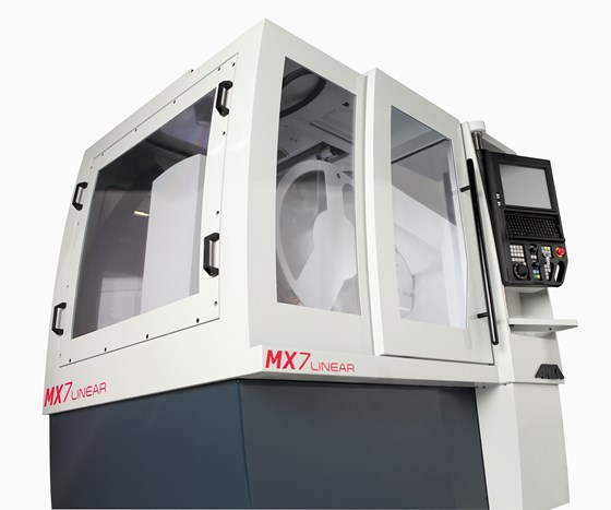 ANCA Motion's LinX linear motor technology on MX7 tool grinder