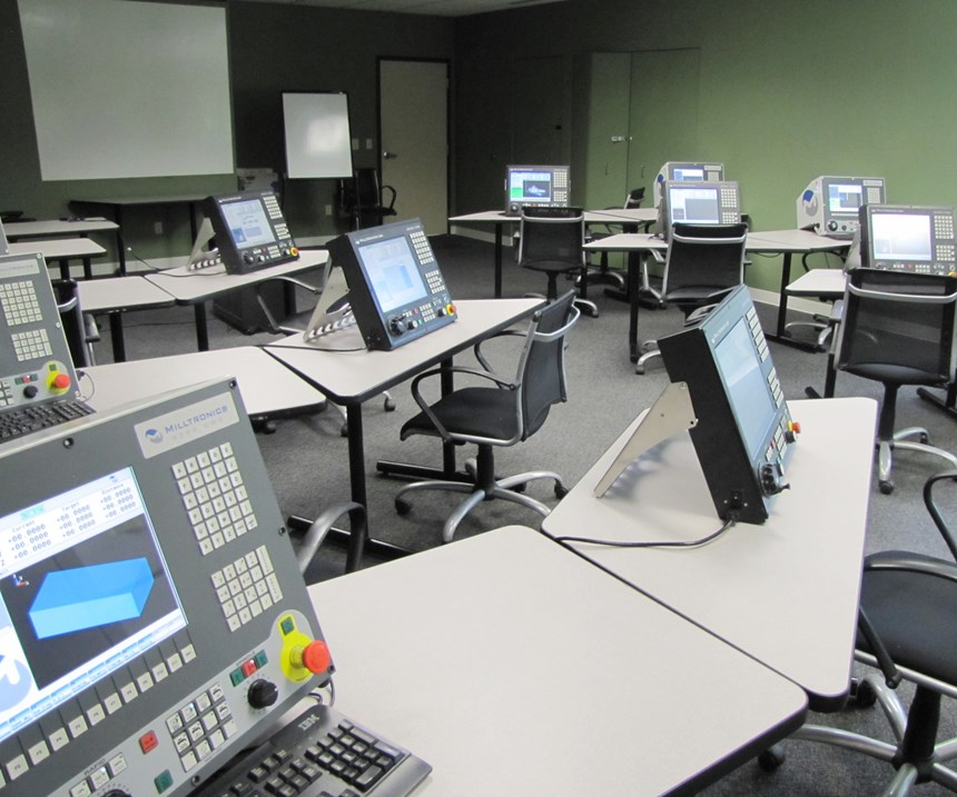 CNC training at Milltronics