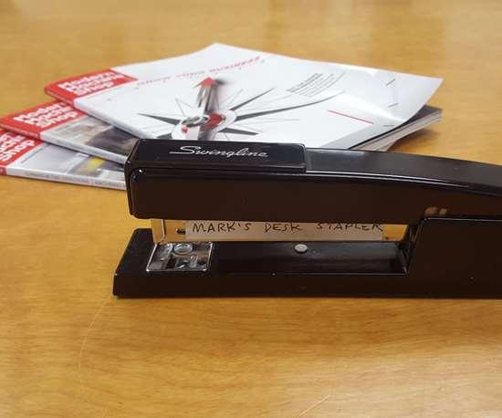 name on stapler