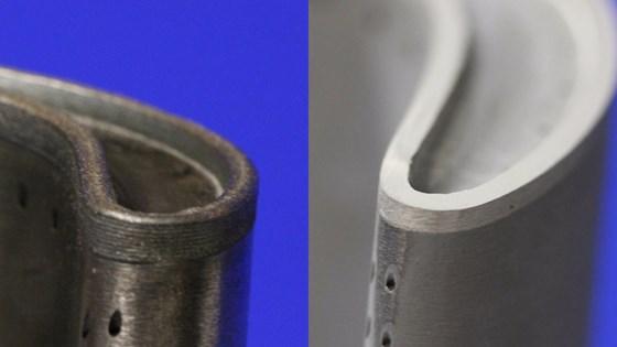 Squealer tip 3D printed on turbine blade