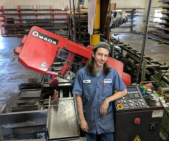 Former restaurant employee working in MRS Machining saw department