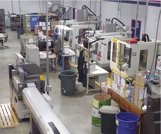 clean, organized manufacturing facility