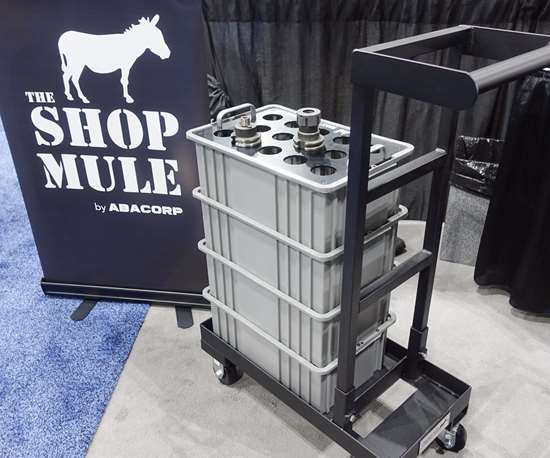 Abacorp Shop Mule shop cart with stackable tote bins