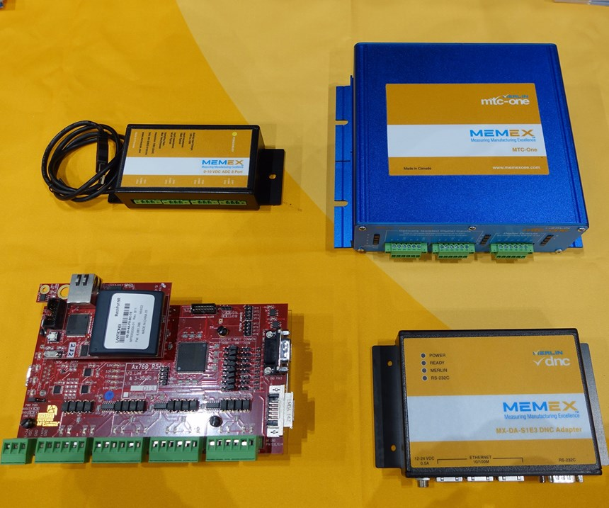 Memex MTC-One connectivity board for machine monitoring