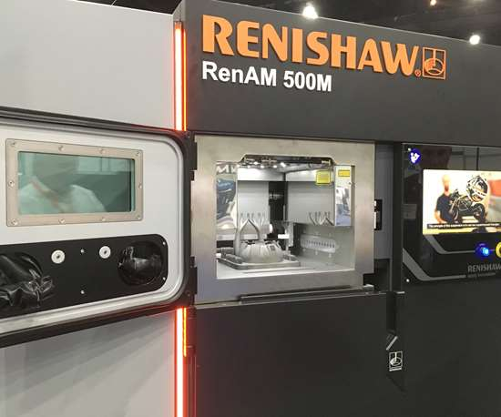 Renishaw RenAM 500 metal additive manufacturing machine