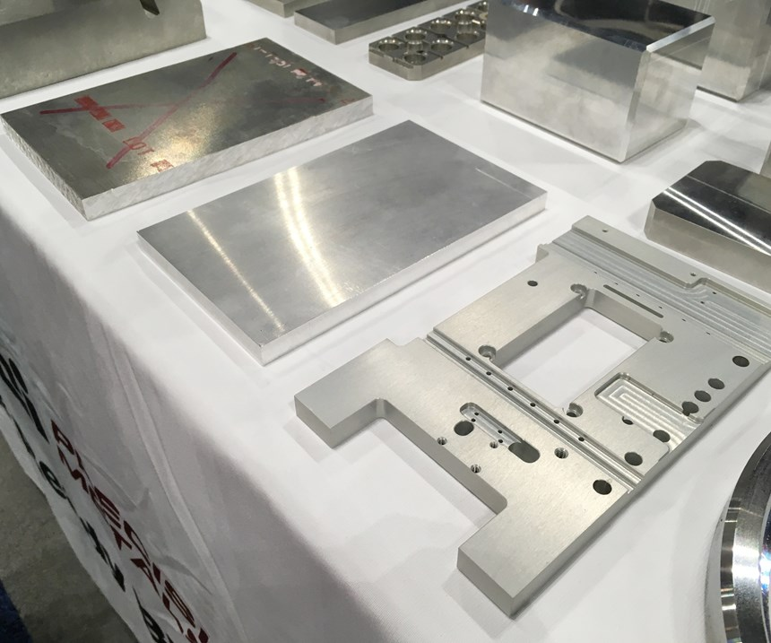 Metal stock, TCI Precision Metals blank and machined part