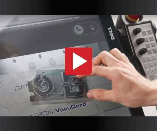 using touchscreen machine control Datron Dynamics