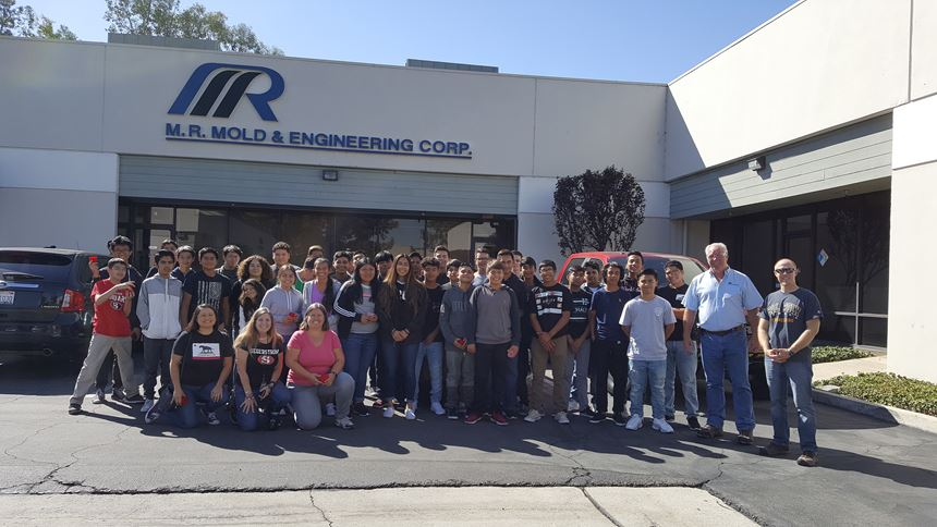 students visit M.R. Mold's Manufacturing Day festivities