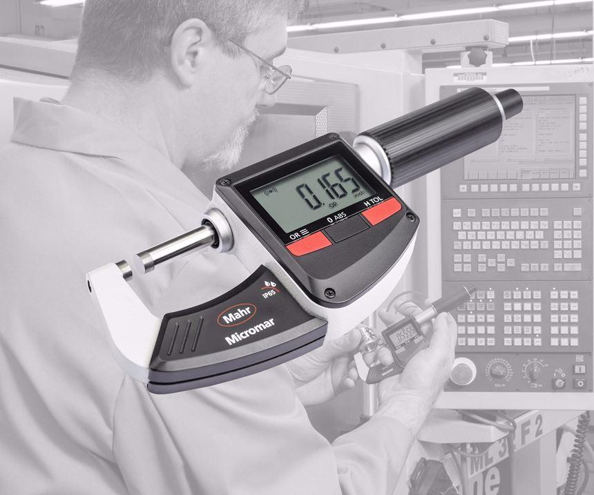 Mahr Federal's Micromar 40 EWRi digital micrometer