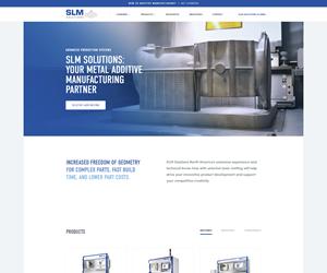 screenshot of slm-solutions.us