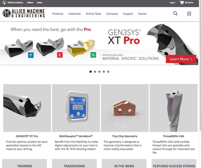 screenshot of alliedmachine.com